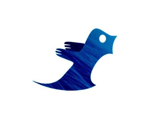 Icona antiga de la xarxa social Twitter després d'haver patit greus tortures