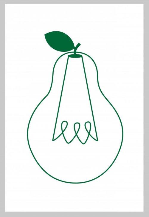 """Il·lustració d'una """"pera bombeta"""""""